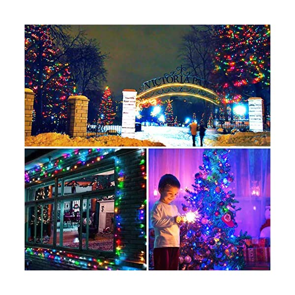 Avoalre Catena Luminosa 1000 LEDs 100M Luci Natale 8 Modalità 4 Colori Stringa Luci Interno/Esterno Impermeabile Luci Decorative per Atmosfera Romantica Festa Nozze Compleanno, Rosa/Giallo/Blu/Verde 5 spesavip