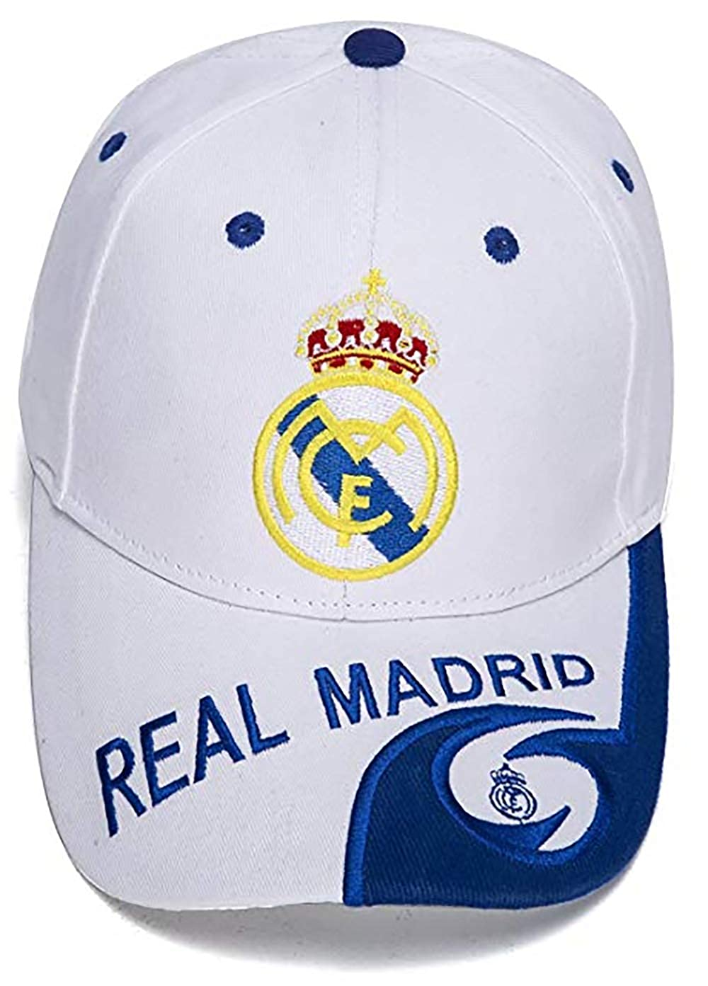 Real Madrid New Embroidered Authentic Adjustable Baseball Cap Color White