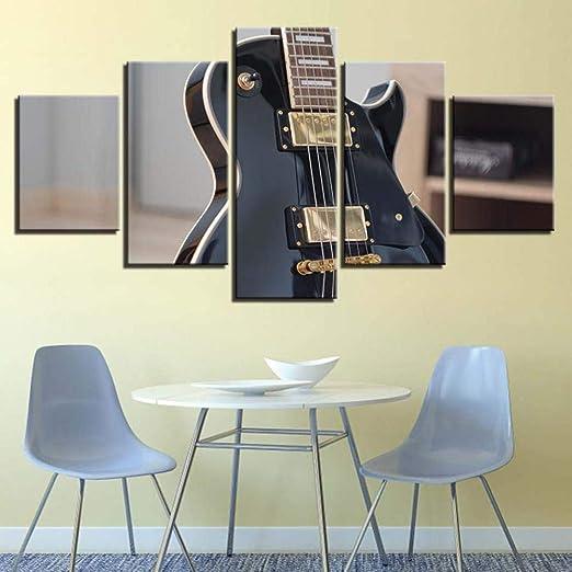 Impresión en Lienzo 5 piezas Rock Guitarra eléctrica Instrumento ...