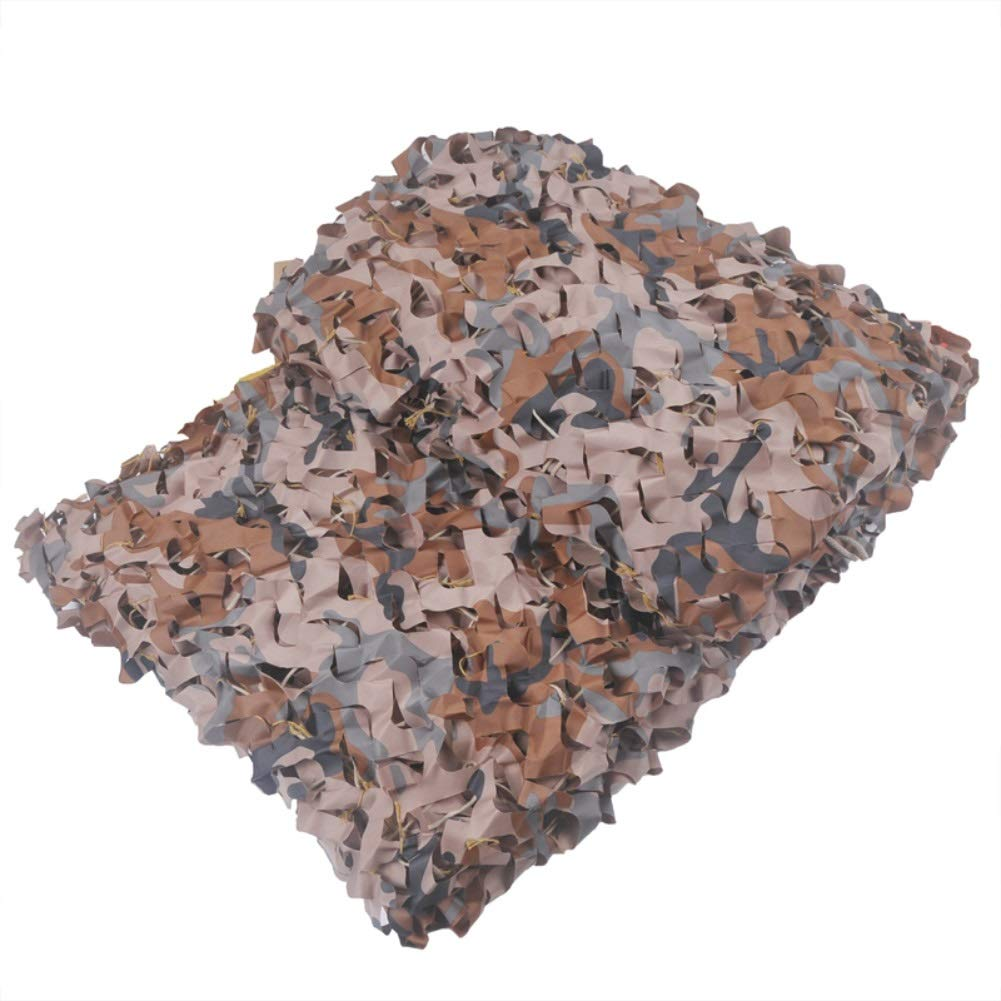LPD-迷彩ネット Desert Camouflage Net Air Defense Shading Insulation Shading Net With Iron Ring Interior Angle Edging Sun Network,300D Polyester Oxford fabric (Size : 3X4m)  3X4m