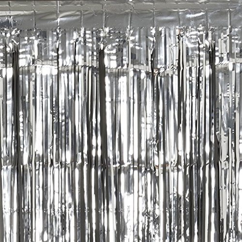 Diamond Metallic Fringe Drape (Sparkling Metallic Foil Fringe Curtain 3Ft X 8Ft -)