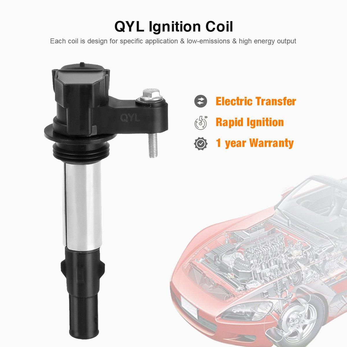 QYL Pack de 6 bobinas de encendido para Buick Cadillac Chevy GMC Saab Saturn V6 2.8L 3.6L Compatible con c1508 uf-375 uf375: Amazon.es: Coche y moto