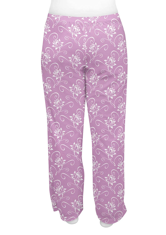 RNK Shops Lotus Flowers Womens Pajama Pants Personalized XS Purple