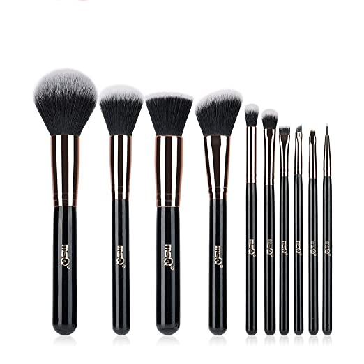 Makeup Brushes MSQ 10pcs Professional Makeup Brush Set Soft Synthetic Hair for Foundation, Highlighter, Liquid, Concealer, Eye Shadow, Lip - Rose Gold