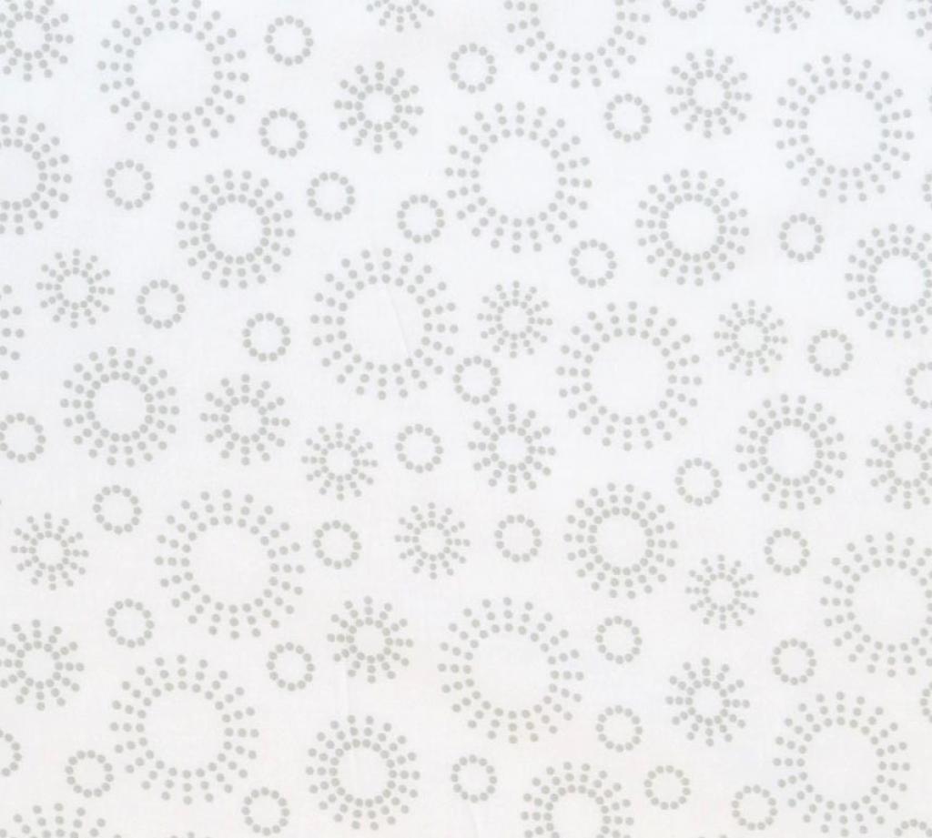 SheetWorld Fitted Pack N Play (Graco) Sheet - Grey Dot Circles - Made In USA