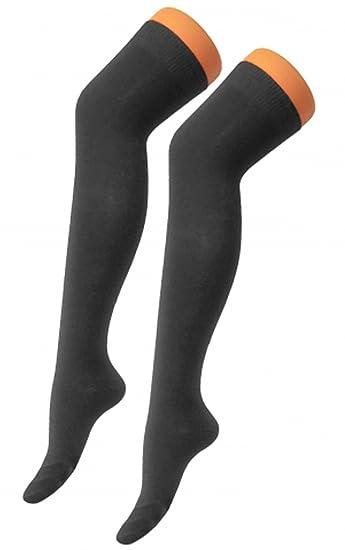 Calcetines OTK de licra, color liso, por encima de la rodilla, elásticos, para mujer y niña negro negro mujeres: 4-6: Amazon.es: Juguetes y juegos