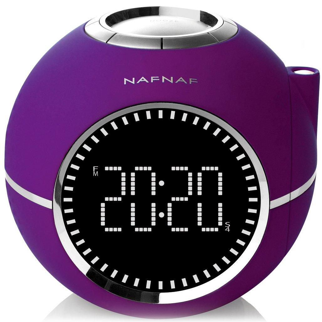 Naf Naf CLOCKINE V2 - Despertador con radio digital FM PLL, proyector y con sonidos de la naturaleza