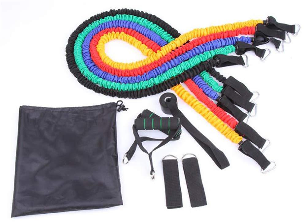 11pcs Set TPE bandes extensibles bandes de résistance fitness ensemble avec  5 tubes de fitness poignées ancre de porte courroies de cheville sac de ... 33474760744