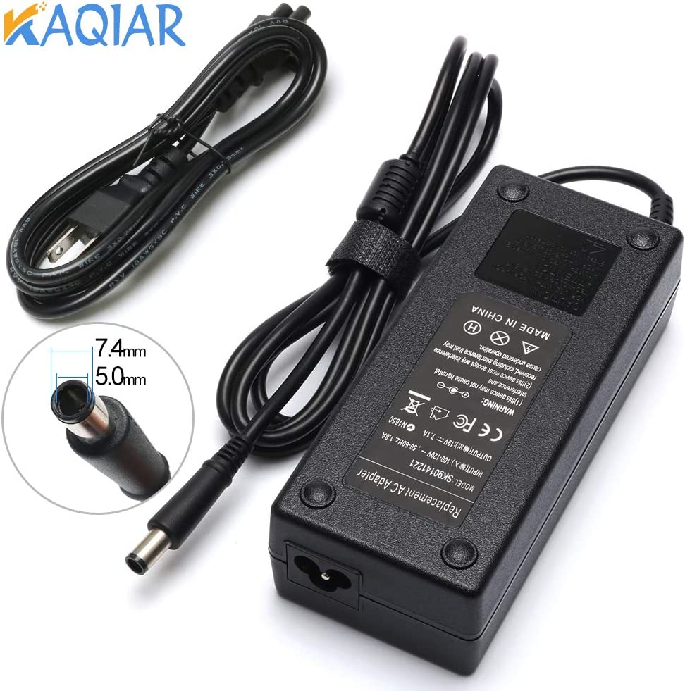 New 19V 7.1A 135W AC Adapter Laptop Charger Compatible with HP 391174-001 384023 481420-001 DC7800 DC7900 Compaq Elite 8000 8200 8300 Notebook [7.4mm5.0mm]