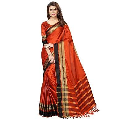 f7a6deb9f VJ FASHION Women's self design cotton silk saree: Amazon.in ...