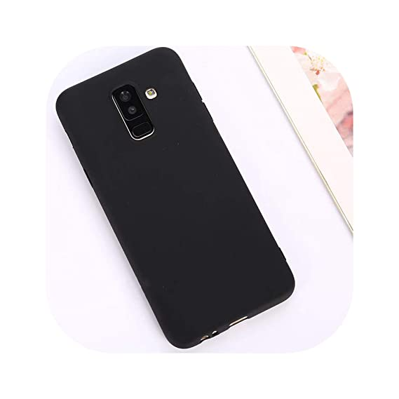 Candy Color Case for Samsung Galaxy A50 A70 A5 2017 J4 J6 Plus J8 A8 A6 A7 2018 S8 S9 S10 Plus S10E Note9 M20 Soft Cover,Black,A40
