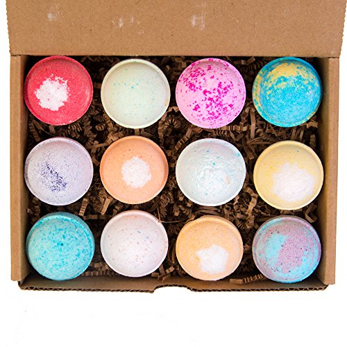 All-Natural Lush Organic Bath Bomb Spa Gift Set (12-pack) - EcoHome Naturals