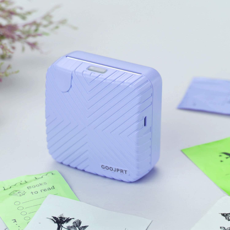 Leslaur GOOJPRT P6 Imprimante de poche Mini Portable BT /Étiquette de re/çu thermique sans fil /Étiquette de re/çu thermique Photo AR Instantan/é Imprimante mobile 203DPI R/ésolution Compatible avec Android