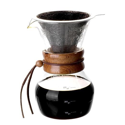 TOWA - Juego de cafeteras con cuchara de café y tapa de corcho ...