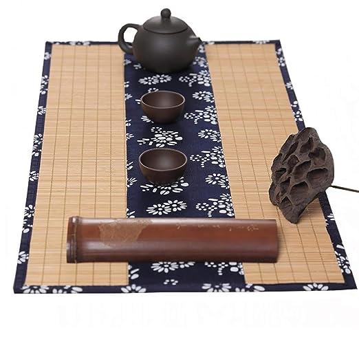 Caminos de mesa Bambú Tradicional De Té Mat Rollo Corredor De La ...