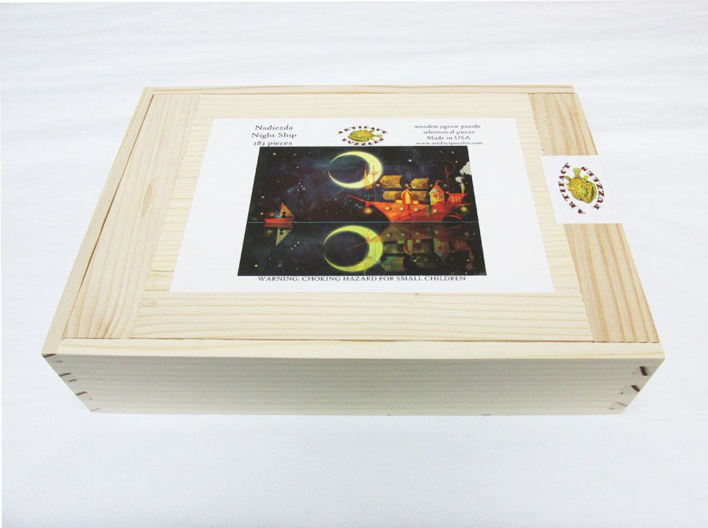 Artifact Puzzles - Nadiezda Night Ship Wooden Jigsaw Puzzle