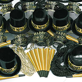 Image of Gold Showboat NYE New Year Party Kit for 100 Guests