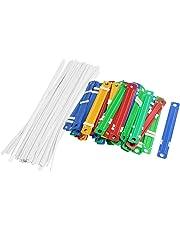 TOOGOO(R) 50 piezas de Fasteners Coloridos de plastico Con dos piezas de papel
