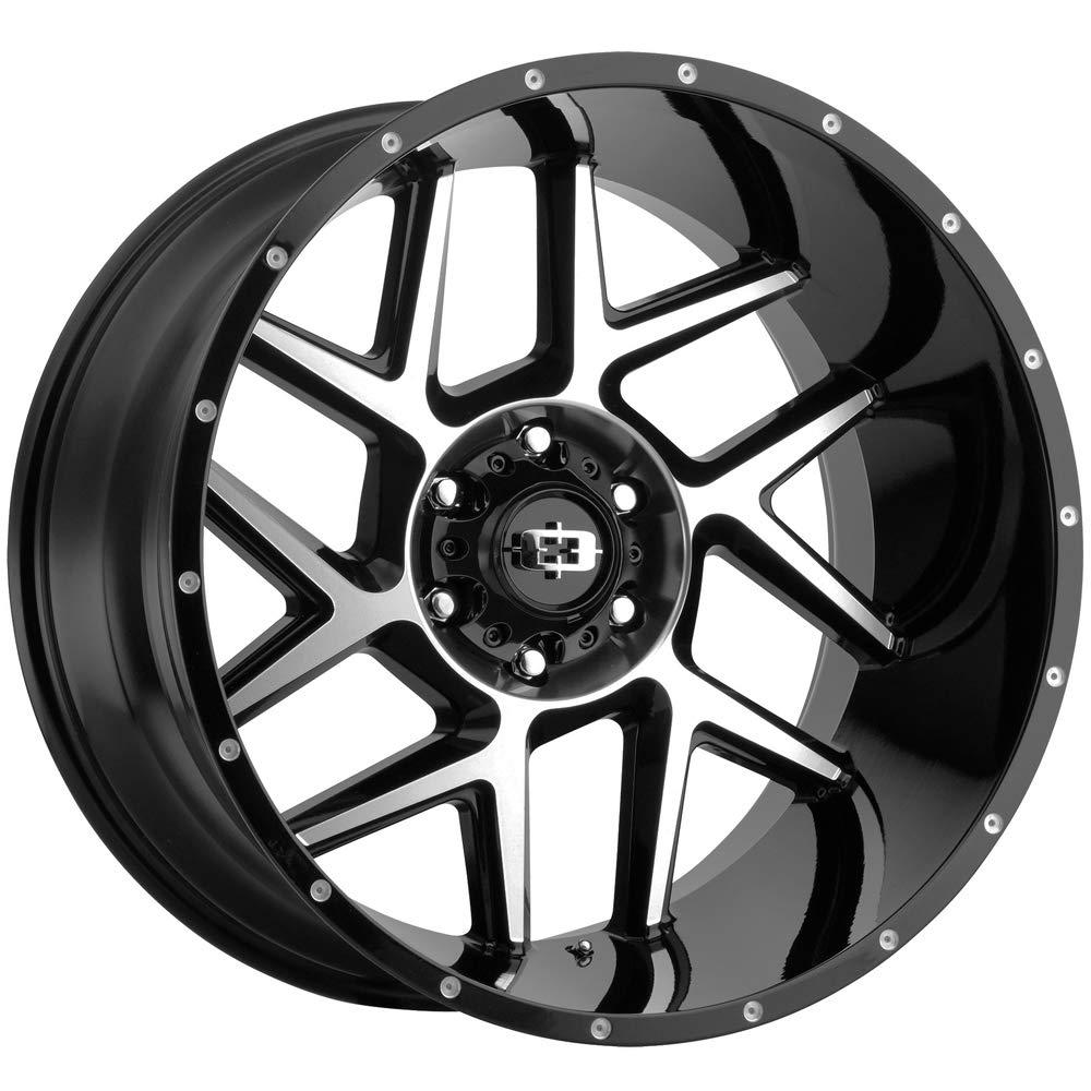 Vision 360 Sliver 22x12 5x5.5'' -51mm Black/Machined Wheel Rim 22'' Inch