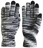 Electronics Women Best Deals - TrailHeads Women's Space Dye Touch Screen Knit Gloves - black & white