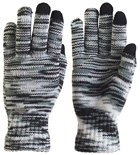 Dye Glove (TrailHeads Women's Space Dye Touch Screen Knit Gloves - Black & White)