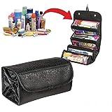 化粧収納バッグ 整理バックLuckyFine 小物 旅行用 大容量 収納ケース 化粧品バッグ 小物整理 黒
