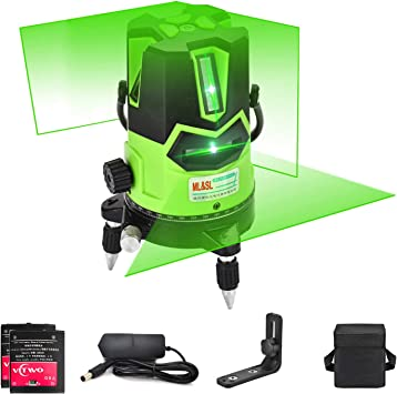 3d Green Beam Laser Level Self Leveling Laser Level Horizontal Vertical Cross Line With Down Plumb Dot 360 Rotating Base Tilt Outdoor Mode Magnetic Support Included Amazon Com
