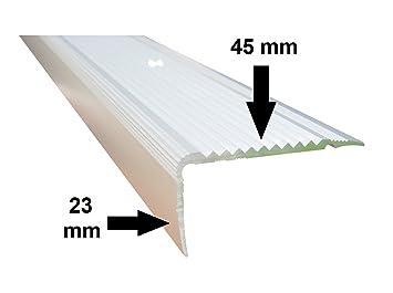 B-Ware 20 mm x 40 mm x 80 cm Silber verschiedene Gr/ö/ßen Treppenkanten Winkelprofil Treppenwinkelprofil Treppenprofil Treppenstufenprofil