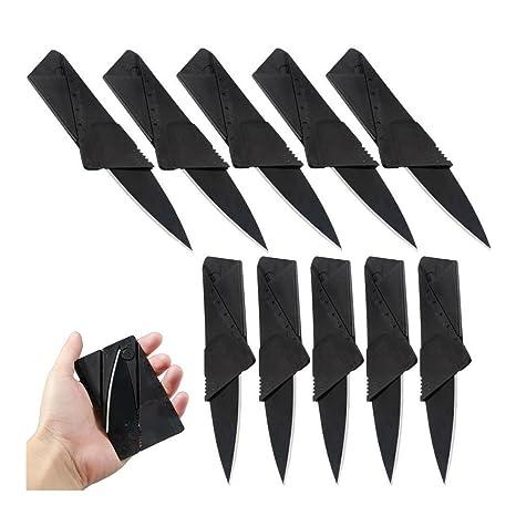 Amazon.com: 20 cuchillos de tarjeta de crédito plegables con ...