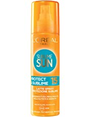 L'Oréal Paris Sublime Sun Protect & Sublime Protezione Solare Spray Abbronzatura Intensa IP 15, 200 ml