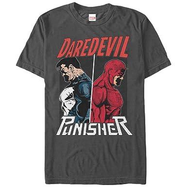 a049ac0f2 Amazon.com: Marvel Men's The Punisher vs. Daredevil T-Shirt: Clothing