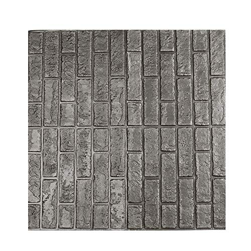 Mlide 1 pcs 3D Wall Paper, Brick Stone Rustic Effect Self-Adhesive Wall Sticker Home Decoration (Gray,30 x30cm)