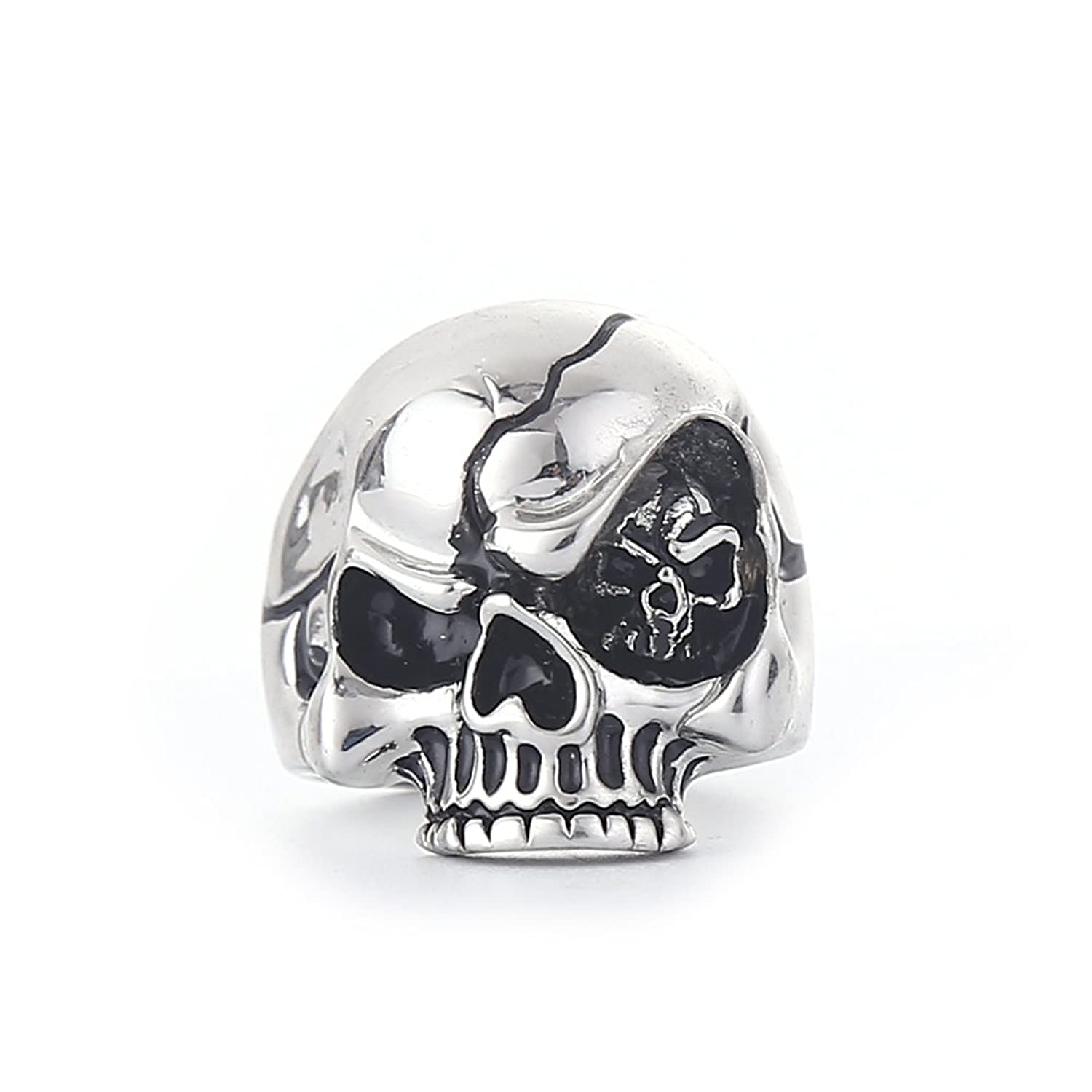 SUM Mens Jewelry Rings Skull With Evil Eye Ring Punk Gothic Style Fashion Biker Rings