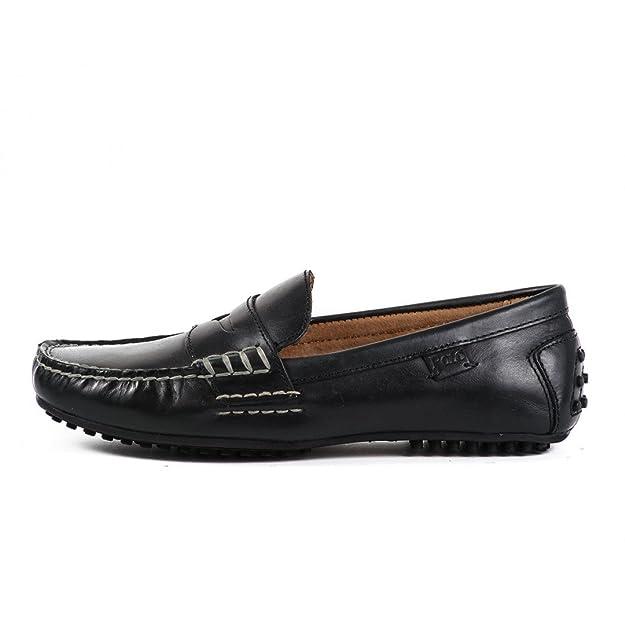 Polo Ralph Lauren - Mocasines negros suaves de hombre negro Size ...
