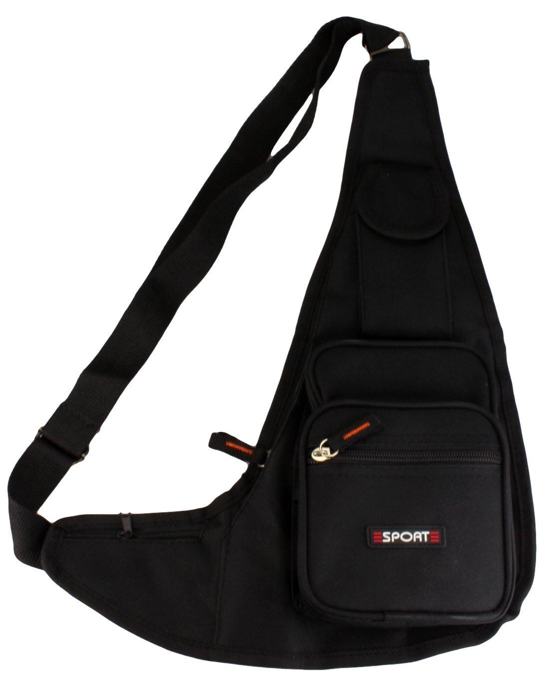 Sacoche bandoulière/Sac Porté travers/Bodybag / Sac de sport Loisirs en noir