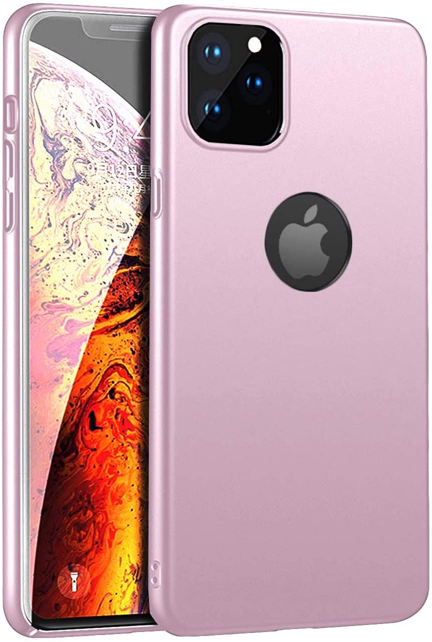 Phone Case Compatible for iPhone 11 6.1inch(2019) Case Slim Fit Hard Plastic PC TPU Matte Surface Ultra Thin Phone Lightweight Protective Back Cover Compatible for iPhone 11 6.1inch(2019)-Rose Gold