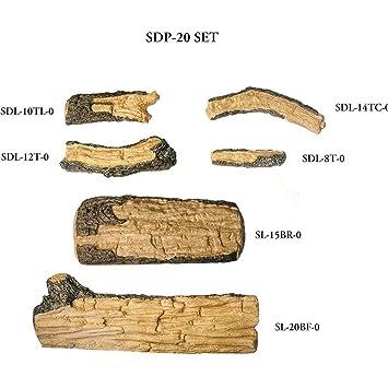 Amazon.com: Peterson Real Fyre 20-inch Split Oak Designer Plus Log ...