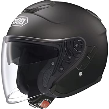 Shoei Casco J-Cruise Simple Matt negro para motos Tamano XS