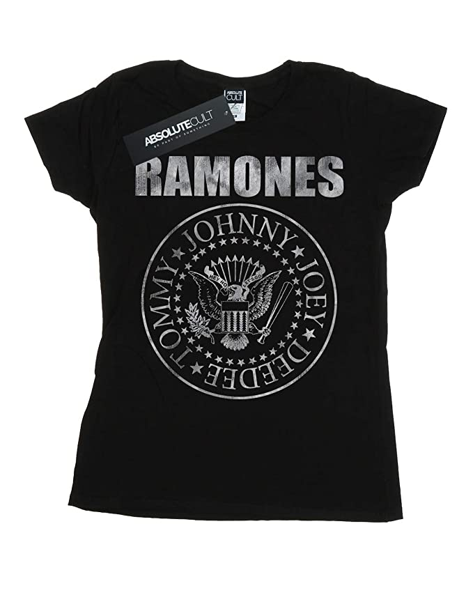 Ramones Womens Distressed Seal T-Shirt at Amazon Womens Clothing store: