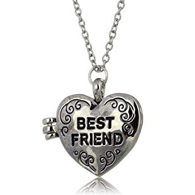 Amazon heart friend photo picture frame locket pendant chain heart friend photo picture frame locket pendant chain necklace aloadofball Choice Image