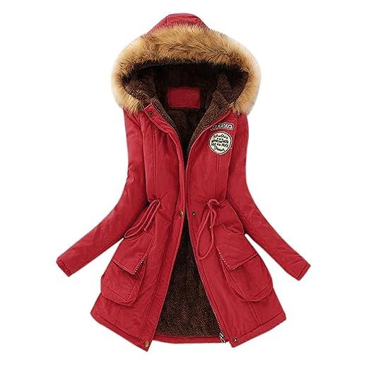 698e5c781f FRana Coats Clearance Women's Winter Coat Warm Hood Parka Casual Outwear  Long Sleeve Jacket Sweaters with Pockets at Amazon Women's Coats Shop