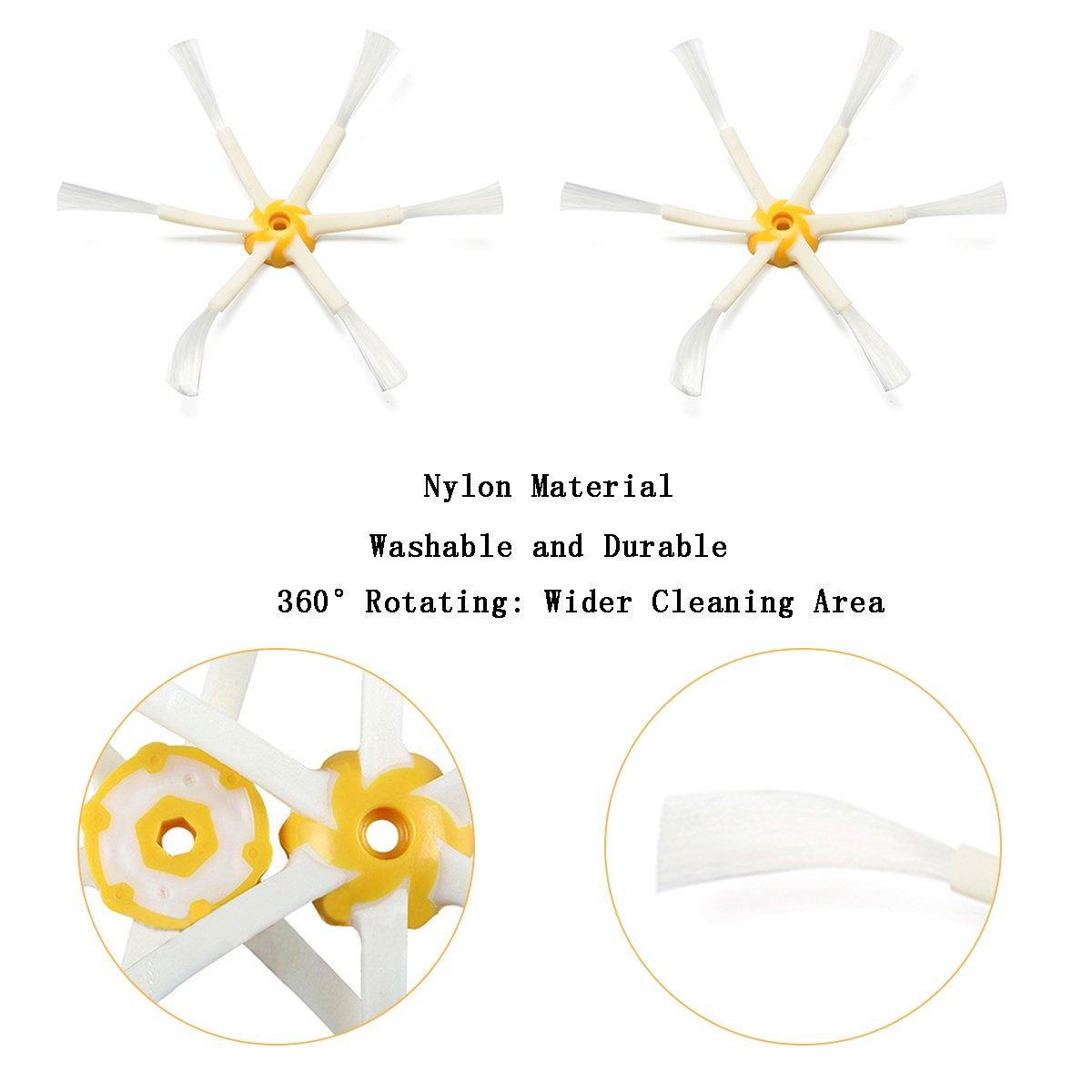 Amazon.com - MZY LLC 5 x Side Brush 6-armed & 5 x Screw for iRobot Roomba 500 600 700 Series 530 540 550 560 570 580 650 760 770 780 Vacuum Cleaning Robots ...