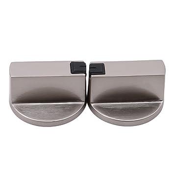 SHIJIAN - Pomos de control giratorios de metal para estufas y cocinas, accesorios de repuesto