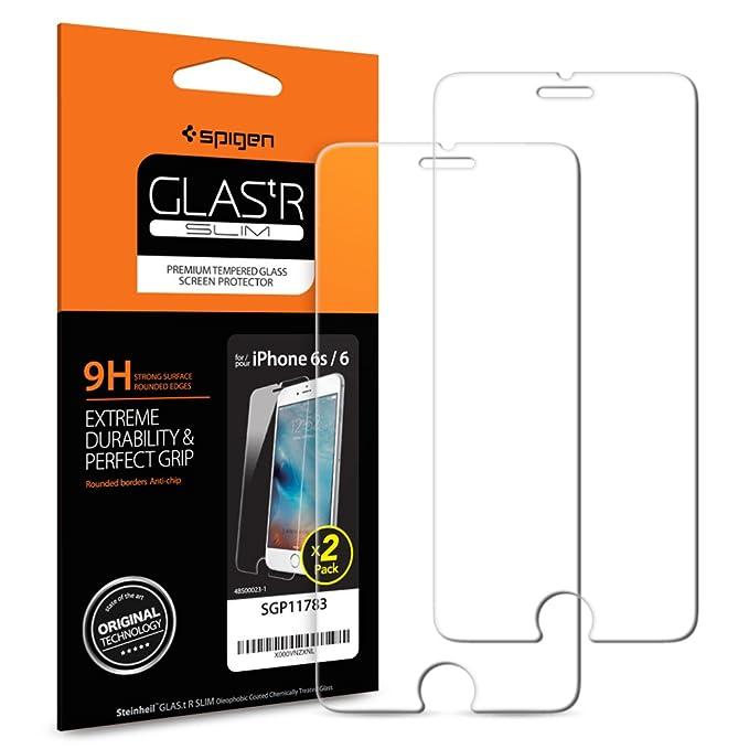 150 opinioni per Spigen SGP11783- Pellicola Vetro Temperato per iPhone 6 / 6S, 2 pezzi