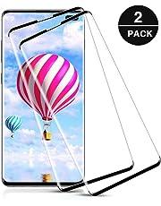 Pufee Protector de Pantalla para Samsung Galaxy S10 Plus, [2-Piezas] Cristal Templado Samsung Galaxy S10 Plus, Cobertura Completa, Sin Burbujas, Alta Definicion, 9H Dureza, Anti Arañazos