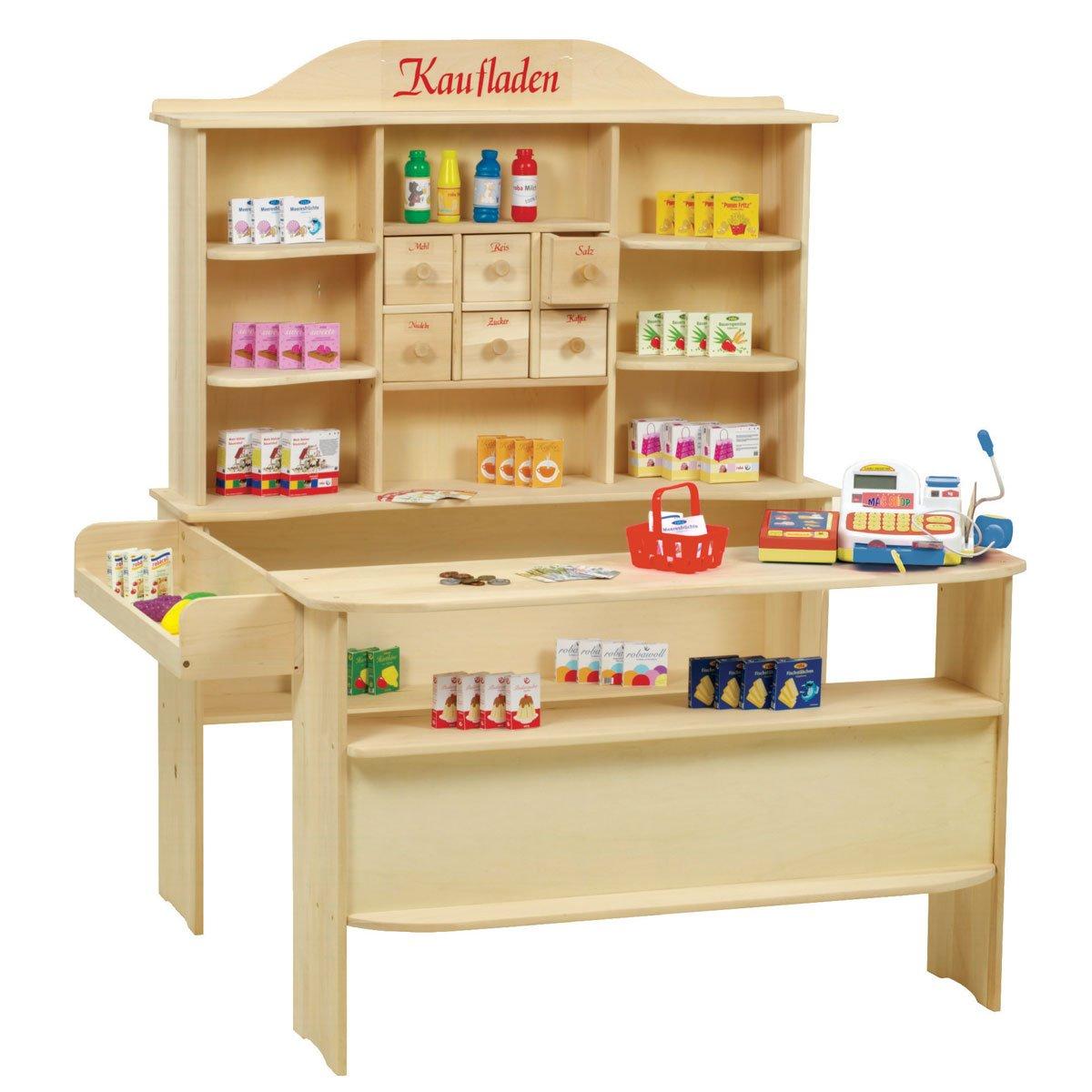 Roba Verkaufsstand - Roba Kaufladen aus Holz inklusive Kaufladenzubehör