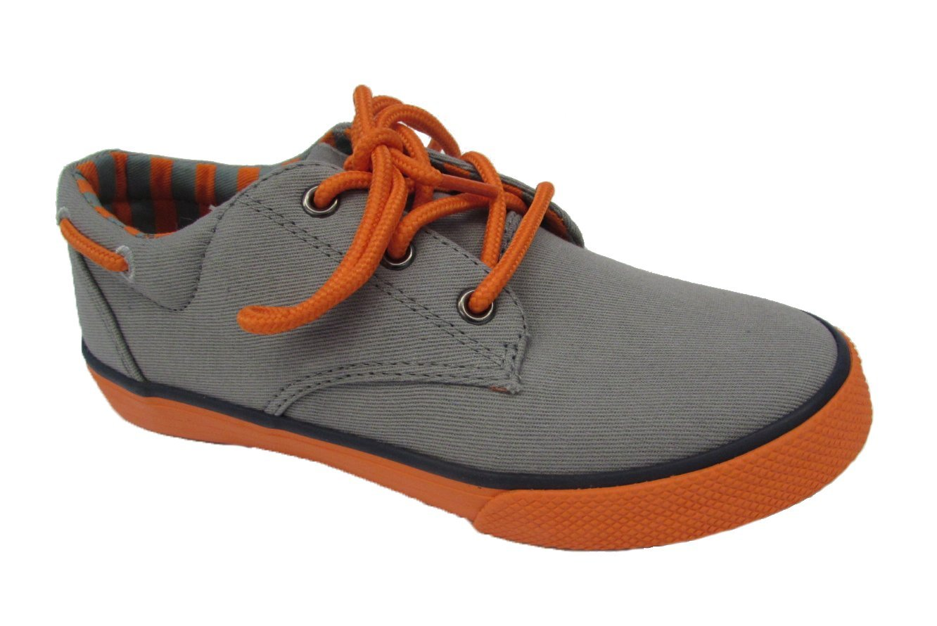 Hanna Andersson Boys' Andersson,Grey/Orange Canvas,US 3 M