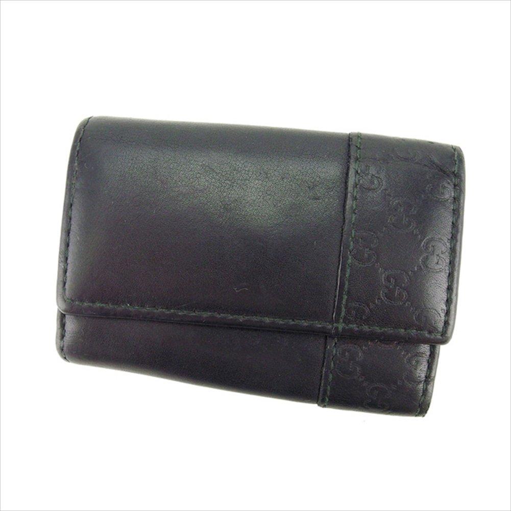 (グッチ) Gucci キーケース 6連キーケース ブラック グッチシマ 中古 B853   B01LY86699