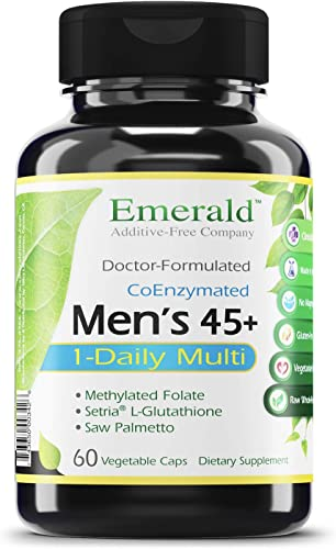 Men s 45 1-Daily Multi – Multivitamin with CoQ10, Saw Palmetto Extra Lycopene – Supports Heart Health, Energy Boost, Immune System, Strong Bones – Emerald Laboratories – 60 Vegetable Capsules