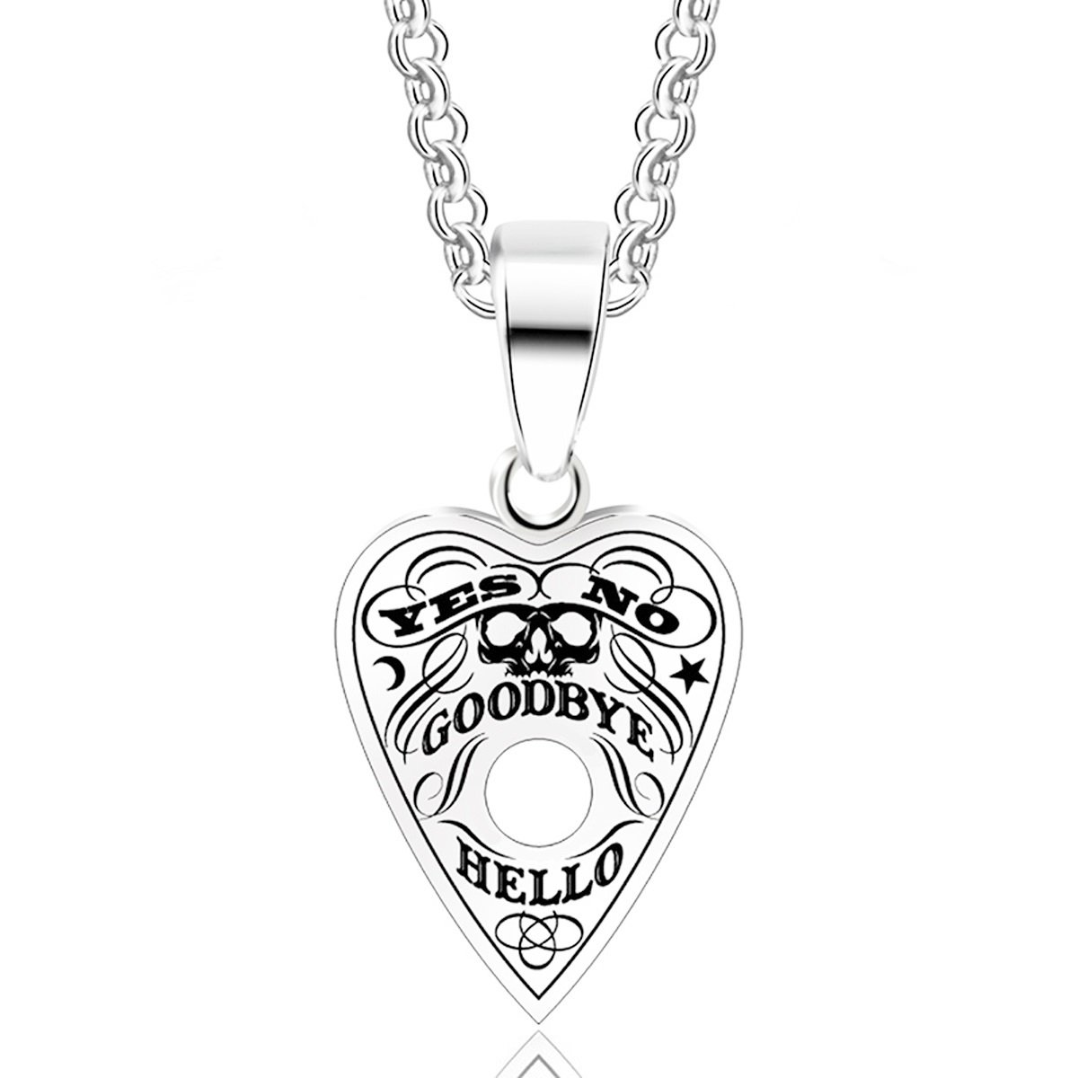 Handicraft Stainless Steel Pendant Necklace Ouija Board Ouija Spirit Planchette
